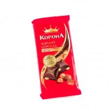 """Шоколад черный с орехом """"Корона"""" 90г"""