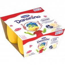 Йогурт Danonino банан/малина 4x50г